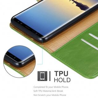 Cadorabo Hülle für Samsung Galaxy NOTE 8 in GRAS GRÜN ? Handyhülle mit Magnetverschluss, Standfunktion und Kartenfach ? Case Cover Schutzhülle Etui Tasche Book Klapp Style - Vorschau 3