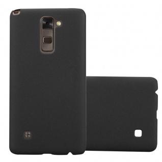 Cadorabo Hülle für LG Stylus 2 in FROSTY SCHWARZ - Hardcase Handyhülle aus Plastik gegen Kratzer und Stöße - Schutzhülle Bumper Ultra Slim Back Case Hard Cover