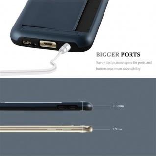 Cadorabo Hülle für Samsung Galaxy S7 - Hülle in ARMOR DUNKEL BLAU ? Handyhülle mit Kartenfach - Hard Case TPU Silikon Schutzhülle für Hybrid Cover im Outdoor Heavy Duty Design - Vorschau 4