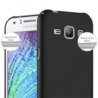 Cadorabo Hülle für Samsung Galaxy J1 2015 in METALL SCHWARZ - Hardcase Handyhülle aus Plastik gegen Kratzer und Stöße - Schutzhülle Bumper Ultra Slim Back Case Hard Cover - Vorschau 5
