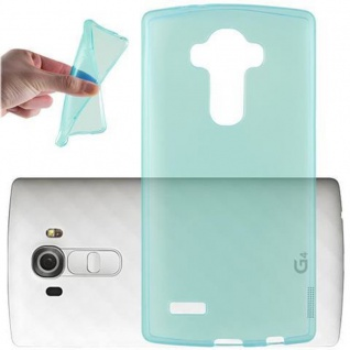 Cadorabo Hülle für LG G4 / G4 PLUS in TRANSPARENT BLAU - Handyhülle aus flexiblem TPU Silikon - Silikonhülle Schutzhülle Ultra Slim Soft Back Cover Case Bumper