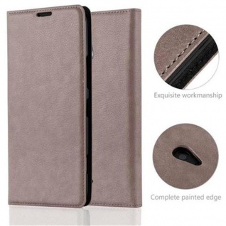 Cadorabo Hülle für Nokia Lumia 1320 in KAFFEE BRAUN - Handyhülle mit Magnetverschluss, Standfunktion und Kartenfach - Case Cover Schutzhülle Etui Tasche Book Klapp Style