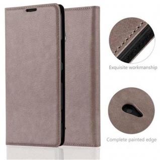 Cadorabo Hülle für Nokia Lumia 1320 in KAFFEE BRAUN Handyhülle mit Magnetverschluss, Standfunktion und Kartenfach Case Cover Schutzhülle Etui Tasche Book Klapp Style