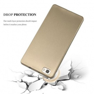 Cadorabo Hülle für Huawei P8 LITE 2015 in METALLIC GOLD - Handyhülle aus flexiblem TPU Silikon - Silikonhülle Schutzhülle Ultra Slim Soft Back Cover Case Bumper - Vorschau 4