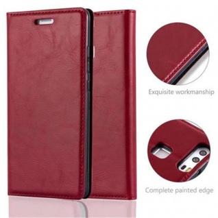 Cadorabo Hülle für Huawei P9 in APFEL ROT Handyhülle mit Magnetverschluss, Standfunktion und Kartenfach Case Cover Schutzhülle Etui Tasche Book Klapp Style