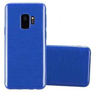 Cadorabo Hülle für Samsung Galaxy S9 in BLAU - Handyhülle aus flexiblem TPU Silikon - Silikonhülle Schutzhülle Ultra Slim Soft Back Cover Case Bumper