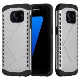 Cadorabo Hülle für Samsung Galaxy S7 EDGE - Hülle in GUARDIAN SILBER ? Hard Case TPU Silikon Schutzhülle für Hybrid Cover im Outdoor Heavy Duty Design