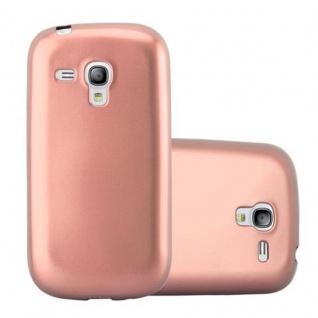Cadorabo Hülle für Samsung Galaxy S3 MINI in METALLIC ROSE GOLD - Handyhülle aus flexiblem TPU Silikon - Silikonhülle Schutzhülle Ultra Slim Soft Back Cover Case Bumper
