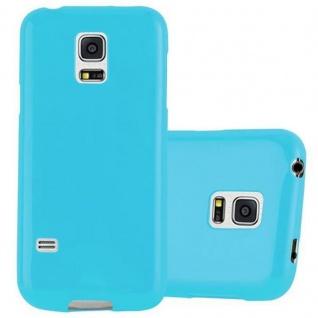 Cadorabo Hülle für Samsung Galaxy S5 / S5 NEO in JELLY HELL BLAU ? Handyhülle aus flexiblem TPU Silikon ? Silikonhülle Schutzhülle Ultra Slim Soft Back Cover Case Bumper