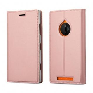 Cadorabo Hülle für Nokia Lumia 830 in CLASSY ROSÉ GOLD - Handyhülle mit Magnetverschluss, Standfunktion und Kartenfach - Case Cover Schutzhülle Etui Tasche Book Klapp Style