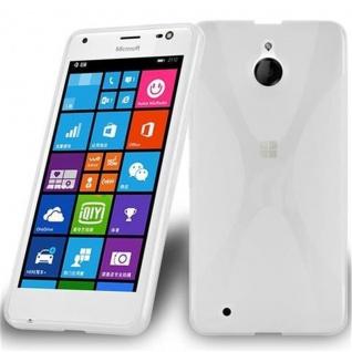 Cadorabo Hülle für Nokia Lumia 850 in HALB TRANSPARENT ? Handyhülle aus flexiblem TPU Silikon ? Silikonhülle Schutzhülle Ultra Slim Soft Back Cover Case Bumper