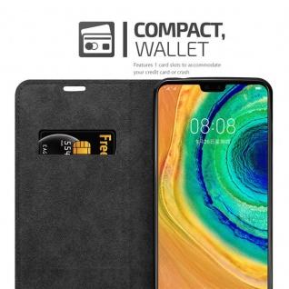 Cadorabo Hülle für Huawei MATE 30 in NACHT SCHWARZ - Handyhülle mit Magnetverschluss, Standfunktion und Kartenfach - Case Cover Schutzhülle Etui Tasche Book Klapp Style - Vorschau 3
