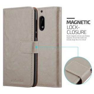 Cadorabo Hülle für Nokia 6 2017 in CAPPUCCINO BRAUN ? Handyhülle mit Magnetverschluss, Standfunktion und Kartenfach ? Case Cover Schutzhülle Etui Tasche Book Klapp Style - Vorschau 2