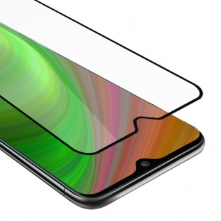 Cadorabo Vollbild Panzer Folie für Nokia 7.2 Schutzfolie in TRANSPARENT mit SCHWARZ Gehärtetes (Tempered) Display-Schutzglas in 9H Härte mit 3D Touch