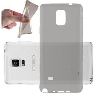Cadorabo Hülle für Samsung Galaxy NOTE 4 in TRANSPARENT SCHWARZ - Handyhülle aus flexiblem TPU Silikon - Silikonhülle Schutzhülle Ultra Slim Soft Back Cover Case Bumper