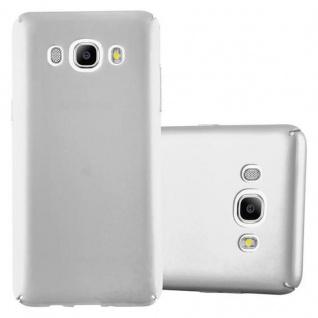 Cadorabo Hülle für Samsung Galaxy J5 2016 in METALL SILBER ? Hardcase Handyhülle aus Plastik gegen Kratzer und Stöße ? Schutzhülle Bumper Ultra Slim Back Case Hard Cover