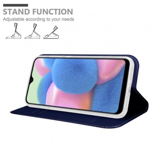 Cadorabo Hülle für Samsung Galaxy A30S in CLASSY DUNKEL BLAU - Handyhülle mit Magnetverschluss, Standfunktion und Kartenfach - Case Cover Schutzhülle Etui Tasche Book Klapp Style - Vorschau 2