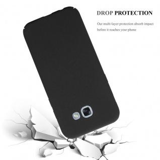 Cadorabo Hülle für Samsung Galaxy A3 2017 in FROSTY SCHWARZ - Hardcase Handyhülle aus Plastik gegen Kratzer und Stöße - Schutzhülle Bumper Ultra Slim Back Case Hard Cover - Vorschau 3