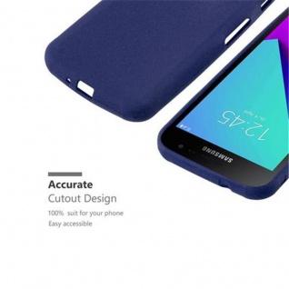 Cadorabo Hülle für Samsung Galaxy XCover 4 in FROST DUNKEL BLAU - Handyhülle aus flexiblem TPU Silikon - Silikonhülle Schutzhülle Ultra Slim Soft Back Cover Case Bumper - Vorschau 3