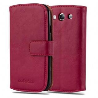 Cadorabo Hülle für Samsung Galaxy S3 / S3 NEO in WEIN ROT ? Handyhülle mit Magnetverschluss, Standfunktion und Kartenfach ? Case Cover Schutzhülle Etui Tasche Book Klapp Style - Vorschau 1