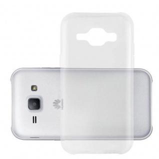 Cadorabo Hülle für Huawei ASCEND Y520 in VOLL TRANSPARENT - Handyhülle aus flexiblem TPU Silikon - Silikonhülle Schutzhülle Ultra Slim Soft Back Cover Case Bumper