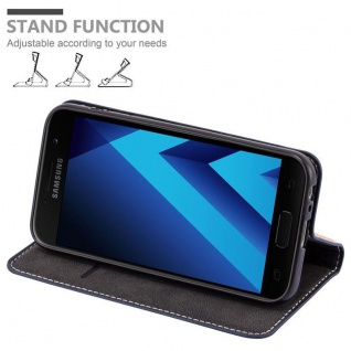 Cadorabo Hülle für Samsung Galaxy A3 2017 in BLAU BRAUN ? Handyhülle mit Magnetverschluss, Standfunktion und Kartenfach ? Case Cover Schutzhülle Etui Tasche Book Klapp Style - Vorschau 3