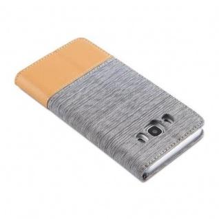 Cadorabo Hülle für Samsung Galaxy J5 2016 in HELL GRAU BRAUN - Handyhülle mit Magnetverschluss, Standfunktion und Kartenfach - Case Cover Schutzhülle Etui Tasche Book Klapp Style - Vorschau 4