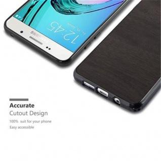 Cadorabo Hülle für Samsung Galaxy A3 2016 in WOODEN SCHWARZ ? Handyhülle aus flexiblem TPU Silikon ? Silikonhülle Schutzhülle Ultra Slim Soft Back Cover Case Bumper - Vorschau 2