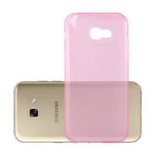 Cadorabo Hülle für Samsung Galaxy A3 2017 in TRANSPARENT PINK - Handyhülle aus flexiblem TPU Silikon - Silikonhülle Schutzhülle Ultra Slim Soft Back Cover Case Bumper