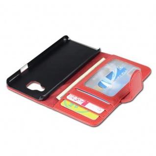 Cadorabo Hülle für Samsung Galaxy A3 2016 in INFERNO ROT ? Handyhülle mit Magnetverschluss und 3 Kartenfächern ? Case Cover Schutzhülle Etui Tasche Book Klapp Style - Vorschau 5