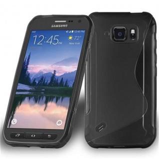 Cadorabo Hülle für Samsung Galaxy S6 ACTIVE in OXID SCHWARZ ? Handyhülle aus flexiblem TPU Silikon ? Silikonhülle Schutzhülle Ultra Slim Soft Back Cover Case Bumper