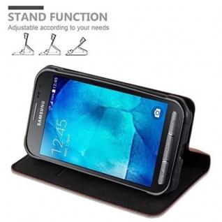 Cadorabo Hülle für Samsung Galaxy XCover 3 in CAPPUCCINO BRAUN - Handyhülle mit Magnetverschluss, Standfunktion und Kartenfach - Case Cover Schutzhülle Etui Tasche Book Klapp Style - Vorschau 5