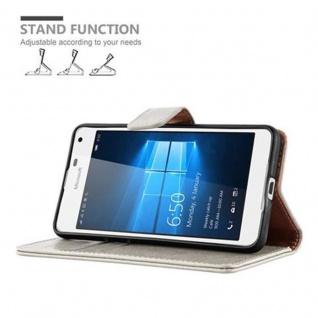 Cadorabo Hülle für Nokia Lumia 650 in CAPPUCCINO BRAUN ? Handyhülle mit Magnetverschluss, Standfunktion und Kartenfach ? Case Cover Schutzhülle Etui Tasche Book Klapp Style - Vorschau 5