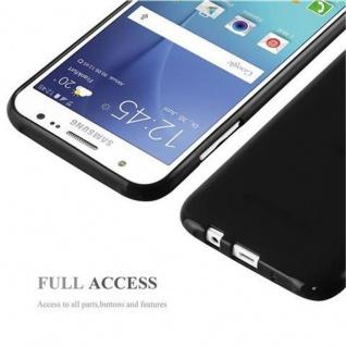 Cadorabo Hülle für Samsung Galaxy J5 2015 in JELLY SCHWARZ - Handyhülle aus flexiblem TPU Silikon - Silikonhülle Schutzhülle Ultra Slim Soft Back Cover Case Bumper - Vorschau 5