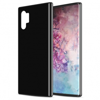Cadorabo Hülle für Samsung Galaxy NOTE 10 PLUS in SCHWARZ Handyhülle aus flexiblem TPU Silikon Silikonhülle Schutzhülle Ultra Slim Soft Back Cover Case Bumper