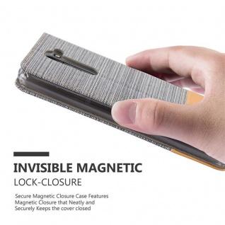 Cadorabo Hülle für LG STYLUS 2 in HELL GRAU BRAUN - Handyhülle mit Magnetverschluss, Standfunktion und Kartenfach - Case Cover Schutzhülle Etui Tasche Book Klapp Style - Vorschau 4