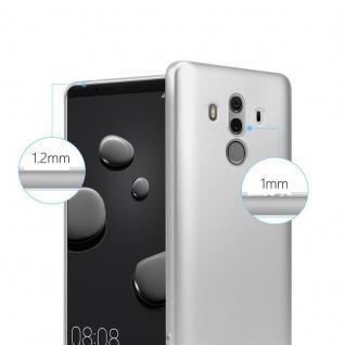 Cadorabo Hülle für Huawei MATE 10 PRO in METALLIC SILBER - Handyhülle aus flexiblem TPU Silikon - Silikonhülle Schutzhülle Ultra Slim Soft Back Cover Case Bumper - Vorschau 4