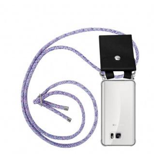 Cadorabo Handy Kette für Samsung Galaxy NOTE 5 in UNICORN - Silikon Necklace Umhänge Hülle mit Silber Ringen, Kordel Band Schnur und abnehmbarem Etui - Schutzhülle