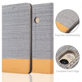 Cadorabo Hülle für Xiaomi MAX 2 in HELL GRAU BRAUN - Handyhülle mit Magnetverschluss, Standfunktion und Kartenfach - Case Cover Schutzhülle Etui Tasche Book Klapp Style - Vorschau 2
