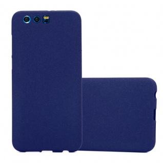 Cadorabo Hülle für Honor 9 in FROST DUNKEL BLAU - Handyhülle aus flexiblem TPU Silikon - Silikonhülle Schutzhülle Ultra Slim Soft Back Cover Case Bumper
