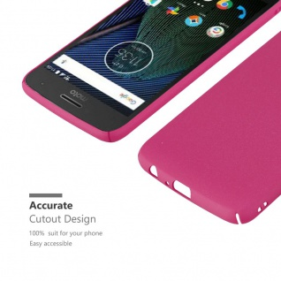 Cadorabo Hülle für Motorola MOTO G5 PLUS in FROSTY PINK - Hardcase Handyhülle aus Plastik gegen Kratzer und Stöße - Schutzhülle Bumper Ultra Slim Back Case Hard Cover - Vorschau 5