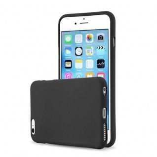 Cadorabo Hülle für Apple iPhone 6 PLUS / iPhone 6S PLUS - Hülle in FROST SCHWARZ ? Handyhülle aus TPU Silikon im matten Frosted Design - Ultra Slim Soft Backcover Case Bumper