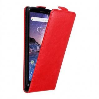 Cadorabo Hülle für Nokia 7 PLUS in APFEL ROT - Handyhülle im Flip Design mit unsichtbarem Magnetverschluss - Case Cover Schutzhülle Etui Tasche Book Klapp Style
