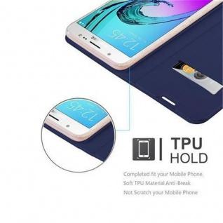 Cadorabo Hülle für Samsung Galaxy J7 2016 in CLASSY DUNKEL BLAU - Handyhülle mit Magnetverschluss, Standfunktion und Kartenfach - Case Cover Schutzhülle Etui Tasche Book Klapp Style - Vorschau 2