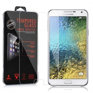 Cadorabo Panzer Folie für Samsung Galaxy E7 - Schutzfolie in KRISTALL KLAR - Gehärtetes (Tempered) Display-Schutzglas in 9H Härte mit 3D Touch Kompatibilität