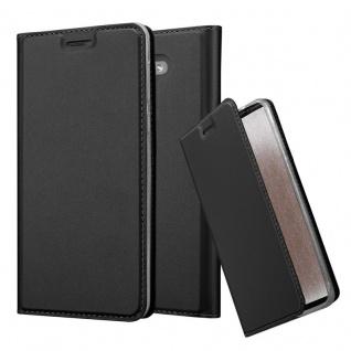 Cadorabo Hülle für Honor 6X in CLASSY SCHWARZ - Handyhülle mit Magnetverschluss, Standfunktion und Kartenfach - Case Cover Schutzhülle Etui Tasche Book Klapp Style