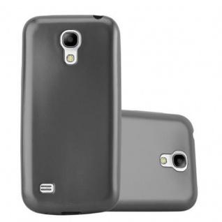 Cadorabo Hülle für Samsung Galaxy S4 MINI in METALLIC GRAU - Handyhülle aus flexiblem TPU Silikon - Silikonhülle Schutzhülle Ultra Slim Soft Back Cover Case Bumper