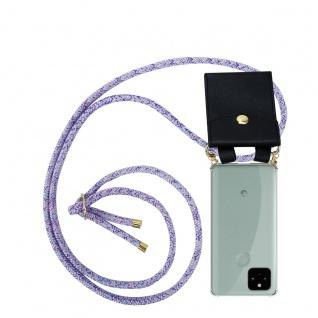 Cadorabo Handy Kette für Google Pixel 5 in UNICORN Silikon Necklace Umhänge Hülle mit Gold Ringen, Kordel Band Schnur und abnehmbarem Etui Schutzhülle