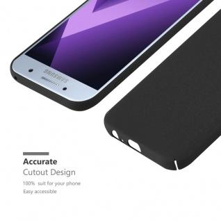 Cadorabo Hülle für Samsung Galaxy A3 2017 in FROSTY SCHWARZ - Hardcase Handyhülle aus Plastik gegen Kratzer und Stöße - Schutzhülle Bumper Ultra Slim Back Case Hard Cover - Vorschau 5