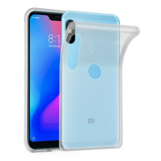 Cadorabo Hülle für Xiaomi Mi A2 LITE / RedMi 6 PRO in VOLL TRANSPARENT - Handyhülle aus flexiblem TPU Silikon - Silikonhülle Schutzhülle Ultra Slim Soft Back Cover Case Bumper